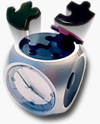 Exploding Puzzle Alarm Clock