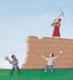 Breaking Down Wall Illustration