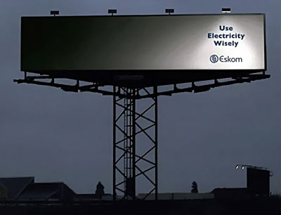 Hereu0027s a way to cut your billboard lighting costs by 75%. Very clever concept but unfortunately loses about 99% of its communication power during daylight ... & Clever Promotions (Part 1 of 3) ***