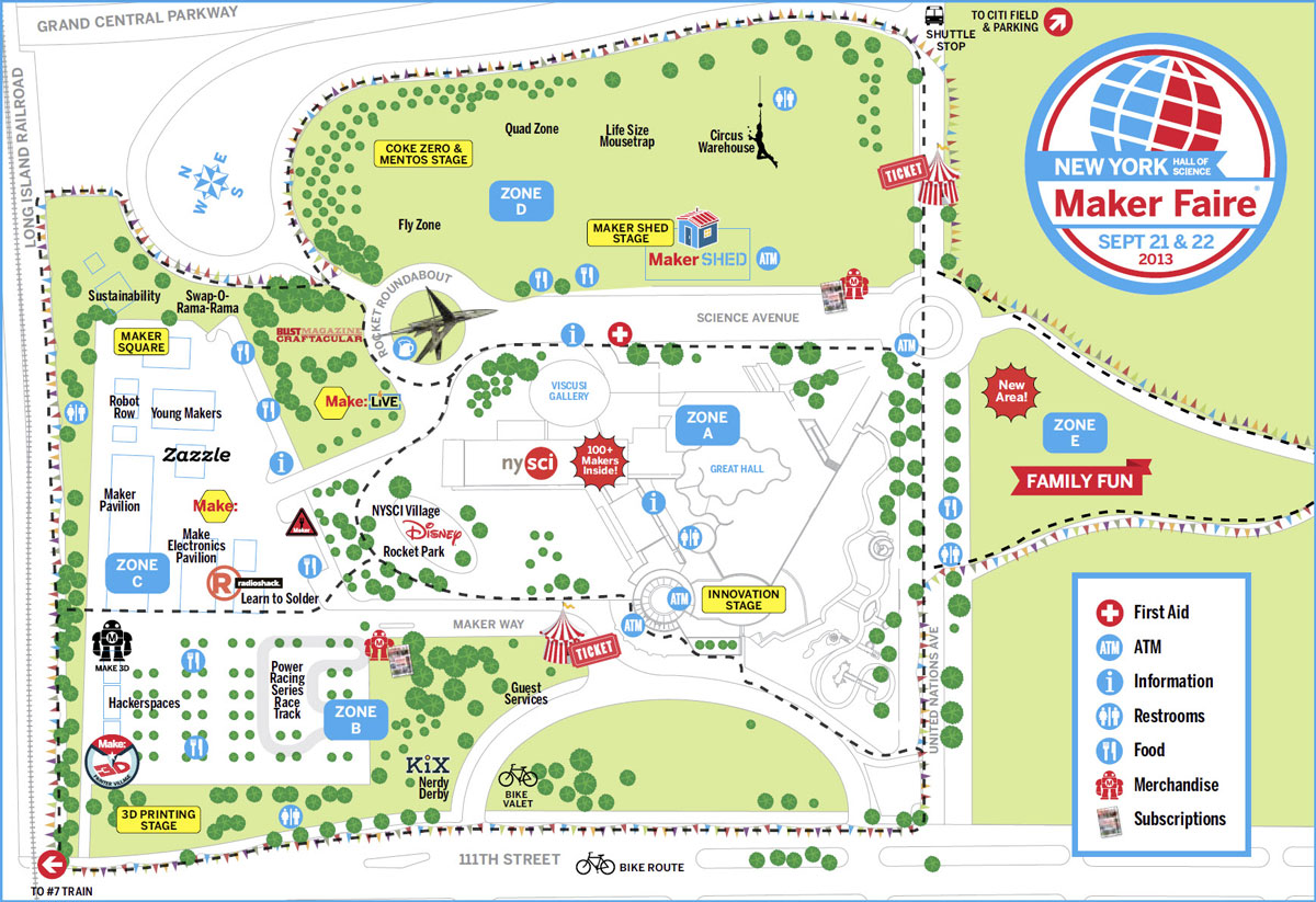 Maker Faire NYC 2013 Map on roblox map, wedding map, new york map, halloween map, maker fair map,